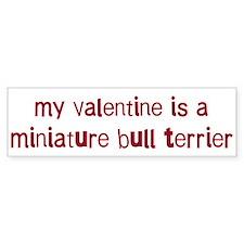 Miniature Bull Terrier valent Bumper Bumper Sticker