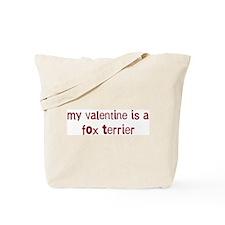 Fox Terrier valentine Tote Bag