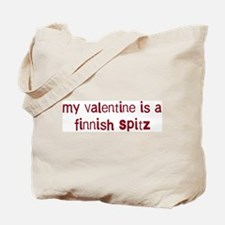 Finnish Spitz valentine Tote Bag