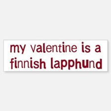 Finnish Lapphund valentine Bumper Bumper Bumper Sticker