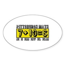 Pittsburgh Math Oval Decal