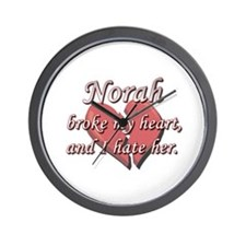 Norah broke my heart and I hate her Wall Clock