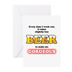 Slightly Less Beer Greeting Cards (Pk of 20)