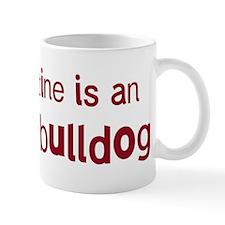 English Bulldog valentine Mug