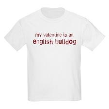 English Bulldog valentine T-Shirt