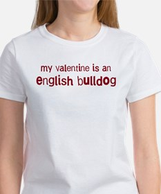 English Bulldog valentine Tee
