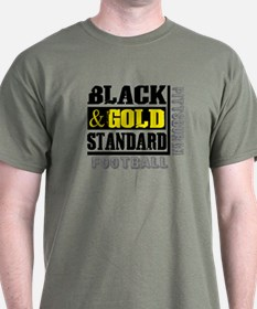Black and Gold Standard T-Shirt