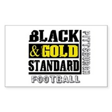 Black and Gold Standard Rectangle Decal