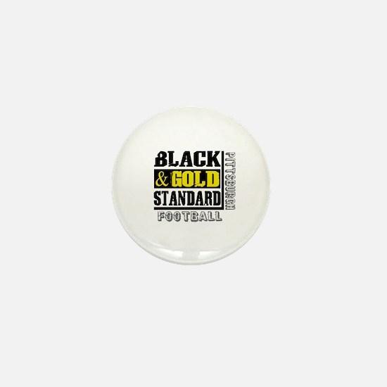 Black and Gold Standard Mini Button