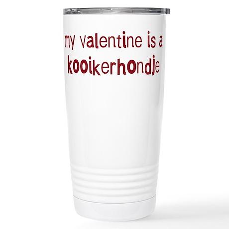 Kooikerhondje valentine Stainless Steel Travel Mug