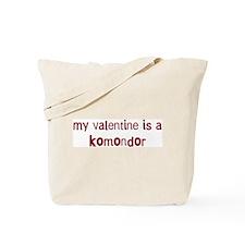 Komondor valentine Tote Bag