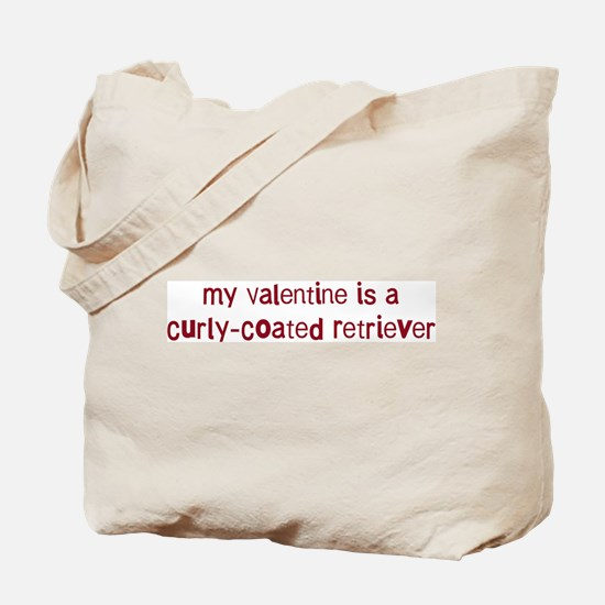 Curly-Coated Retriever valent Tote Bag