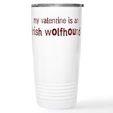 Irish Wolfhound valentine Travel Mug