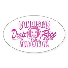 Condistas for Condi Pink Oval Decal