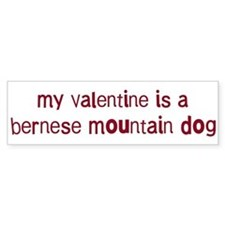 Bernese Mountain Dog valentin Bumper Bumper Sticker