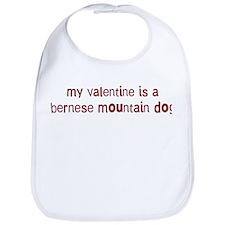Bernese Mountain Dog valentin Bib