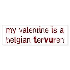 Belgian Tervuren valentine Bumper Bumper Sticker