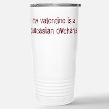 Caucasian Ovcharka valentine Travel Mug