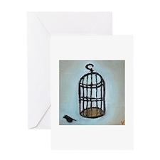 Birdcage Greeting Card