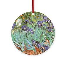 Van Gogh Irises Ornament (Round)