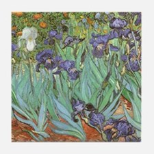 Van Gogh Irises Tile Coaster