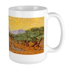 Van Gogh Olive Trees Yellow Sky And Sun Mug