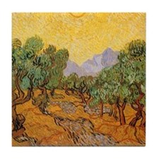 Van Gogh Olive Trees Yellow Sky And Sun Tile Coast