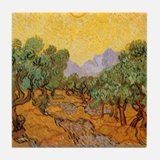 Van Gogh Olive Trees Yellow Sky And Sun Tile Coast