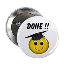 "GraduationSmiley Face 2.25"" Button"