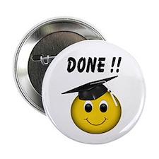 "GraduationSmiley Face 2.25"" Button (10 pack)"