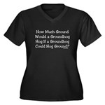 Groundhog Women's Plus Size V-Neck Dark T-Shirt