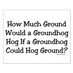 Groundhog Small Poster