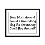 Groundhog Framed Panel Print