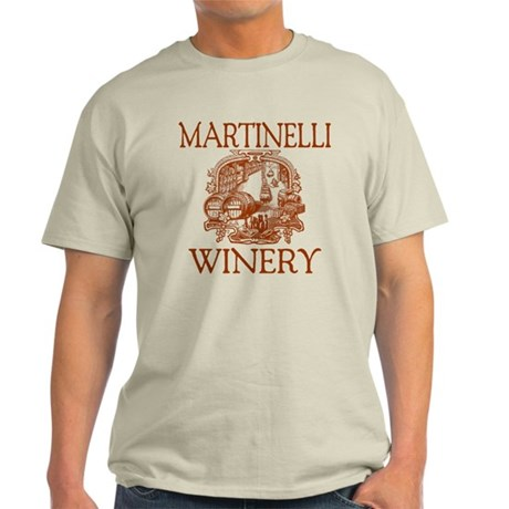 Martinelli Last Name Vintage Winery Light T-Shirt