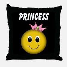 Smiley Princess Throw Pillow