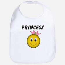 Smiley Princess Bib