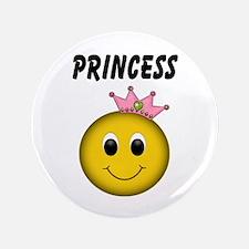 """Smiley Princess 3.5"""" Button"""