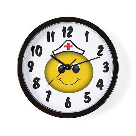 Smiley Nurse Wall Clock