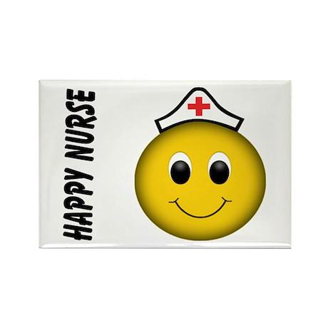 Smiley Nurse Rectangle Magnet