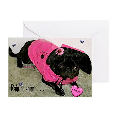 Rain or Shine Valentine Greeting Card