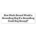 Groundhog Bumper Sticker (50 pk)