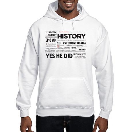 Obama Historic Headline Colla Hooded Sweatshirt