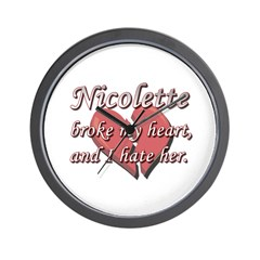 Nicolette broke my heart and I hate her Wall Clock
