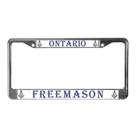 Ontario Mason License Plate Frame