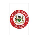 Ontario Mason Rectangle Sticker