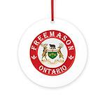 Ontario Mason Ornament (Round)