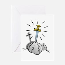 Sword In The Stone Greeting Card