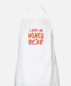 I LOVE MY HONEY BEAR BBQ Apron
