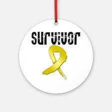 Childhood Cancer Survivor Ornament (Round)