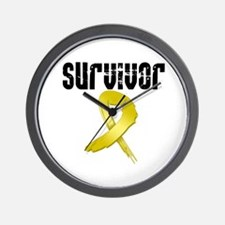 Childhood Cancer Survivor Wall Clock
